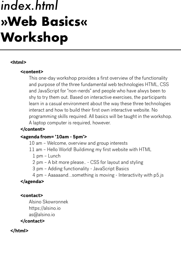 alsino skowronnek index.html – A Beginner's Web Basics Workshop